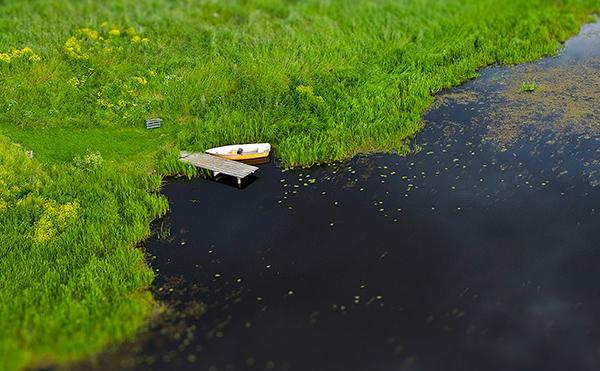 Boat along the Fyris River